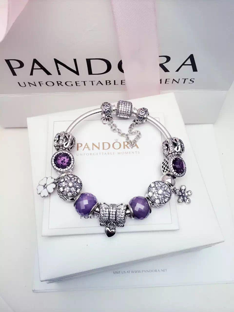 50 Off 299 Pandora Charm Bracelet Purple White Hot Sale Sku Cb02089 Pandora Bracelet Id Pandora Bracelet Designs Pandora Jewelry Box Pandora Charms