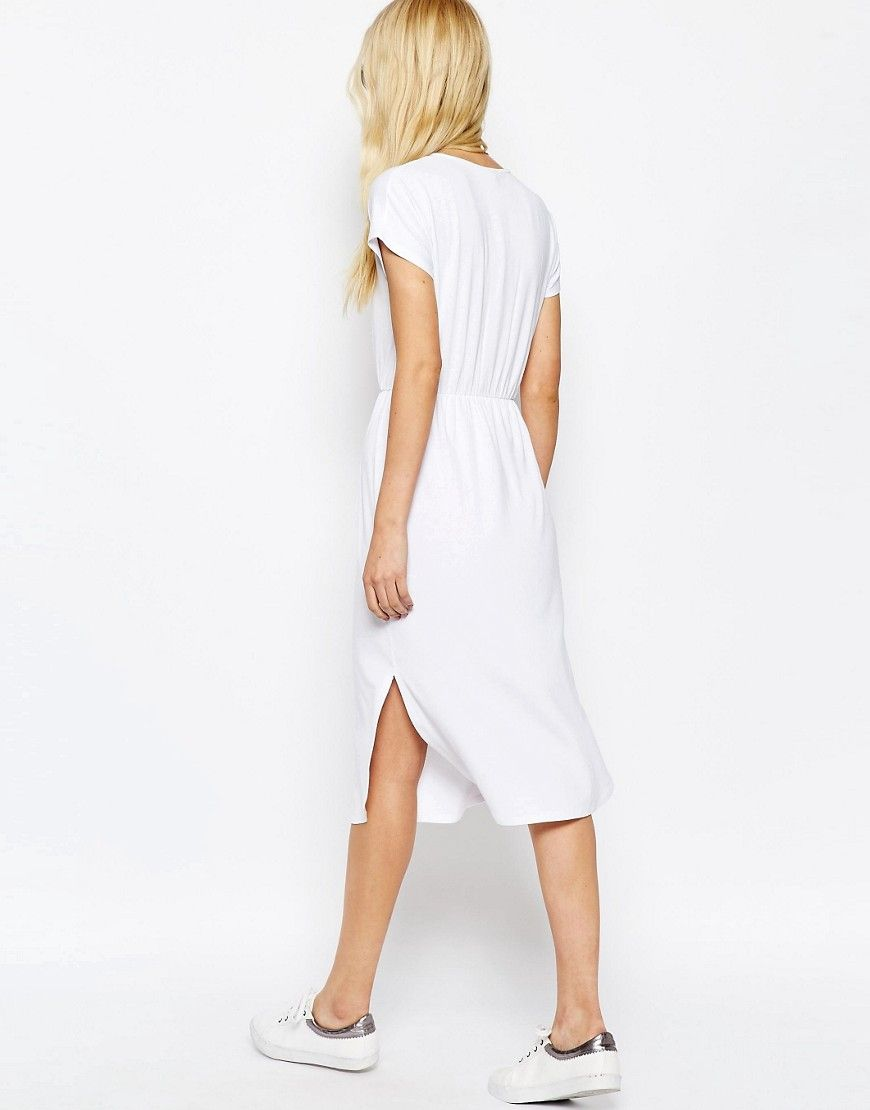 Image 2 of ASOS Waisted T-shirt Midi Dress