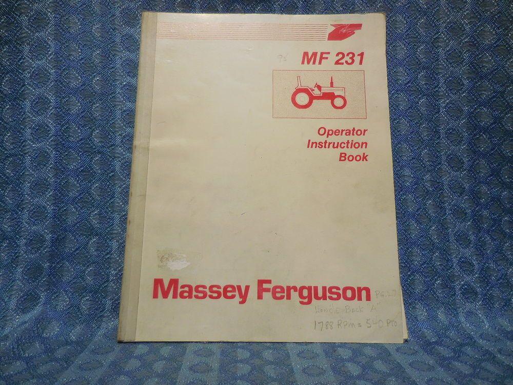 Massey Ferguson Mf 231 Tractor Original Oem Operators