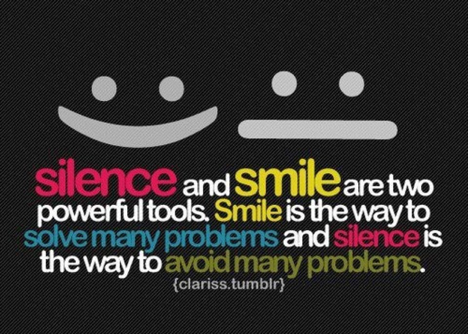 Silence And Smile Problem Quotes Inspirational Quotes Collection Quotes About Family Problems