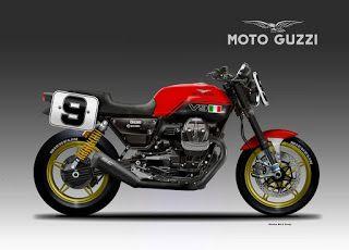 Motosketches: MOTO GUZZI V9 SPIRITO SPORTIVO