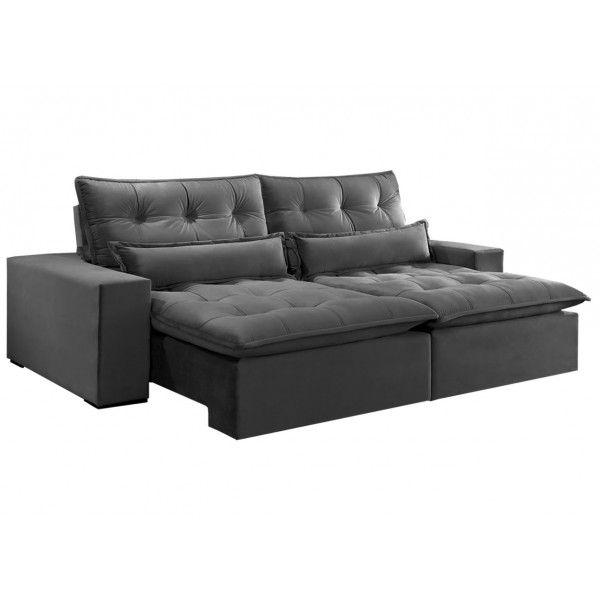 Terrific Sofa Supreme Retratil E Reclinavel 4 Lugares 2 50M Veludo Evergreenethics Interior Chair Design Evergreenethicsorg