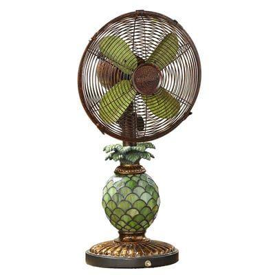 Mosaic Pineapple Table Fan & Lamp | Fan lamp, Pineapple ...