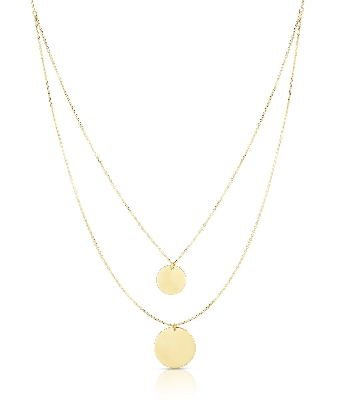 14K Yellow Gold Eagle Pendant on an Adjustable 14K Yellow Gold Chain Necklace