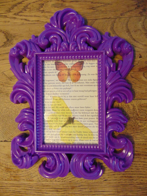 Vlinder Decoratie Babykamer.Ingelijste Print Vlinders Op Boekpagina Wand Decoratie Kinderkamer