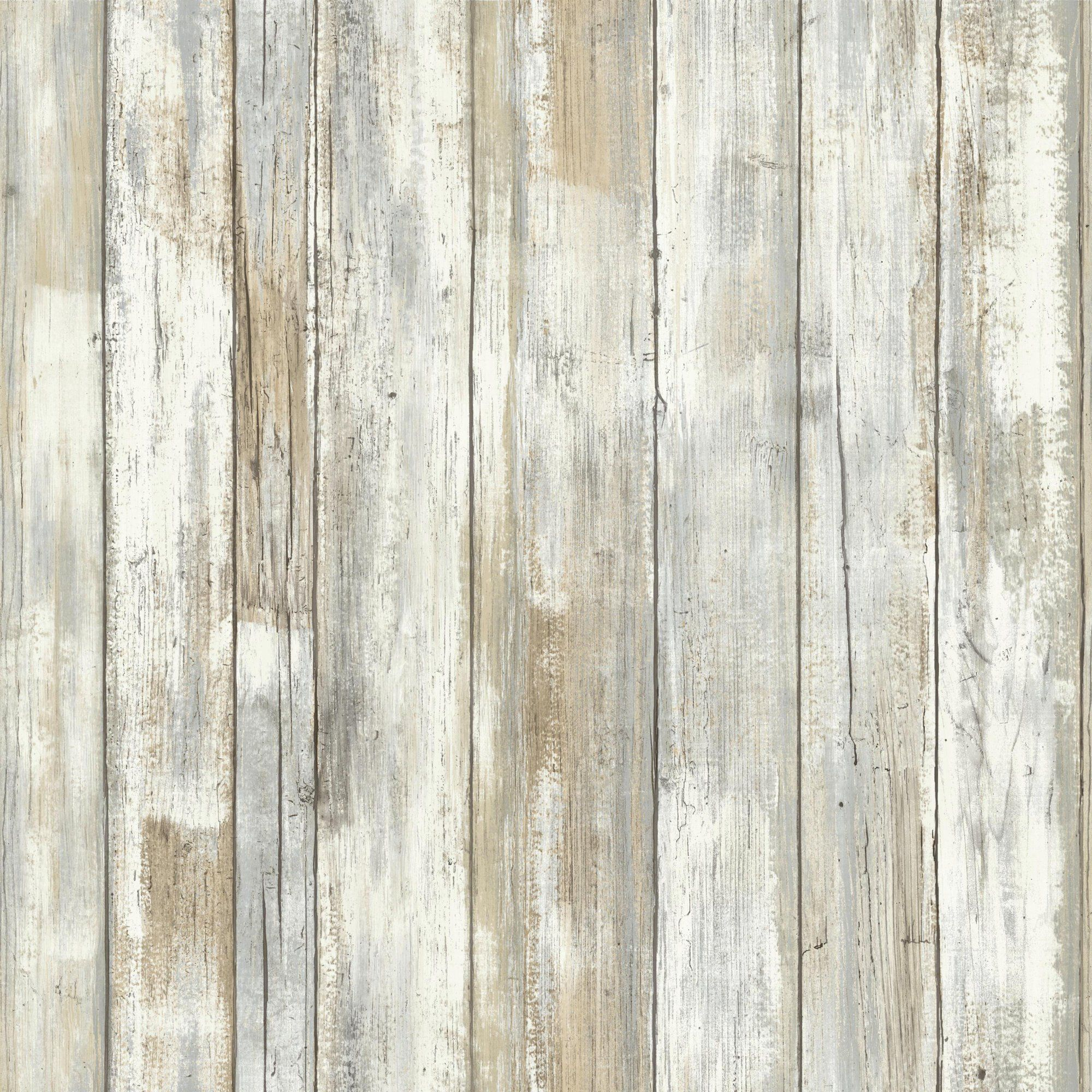 Roommates Distressed Wood Peel And Stick Wall Decor Wallpaper Walmart Com Distressed Wood Wallpaper How To Distress Wood Wood Wallpaper