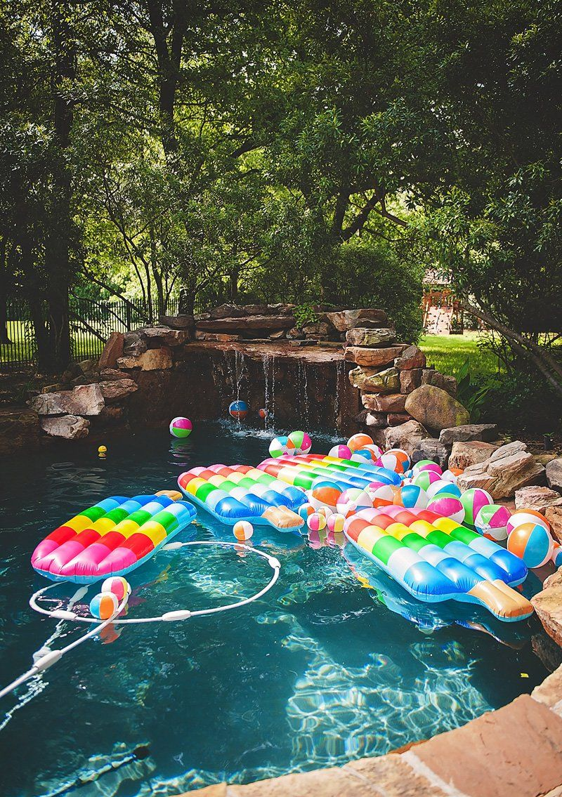 Bright & Modern Popsicle Pool Party {2nd Birthday Summer
