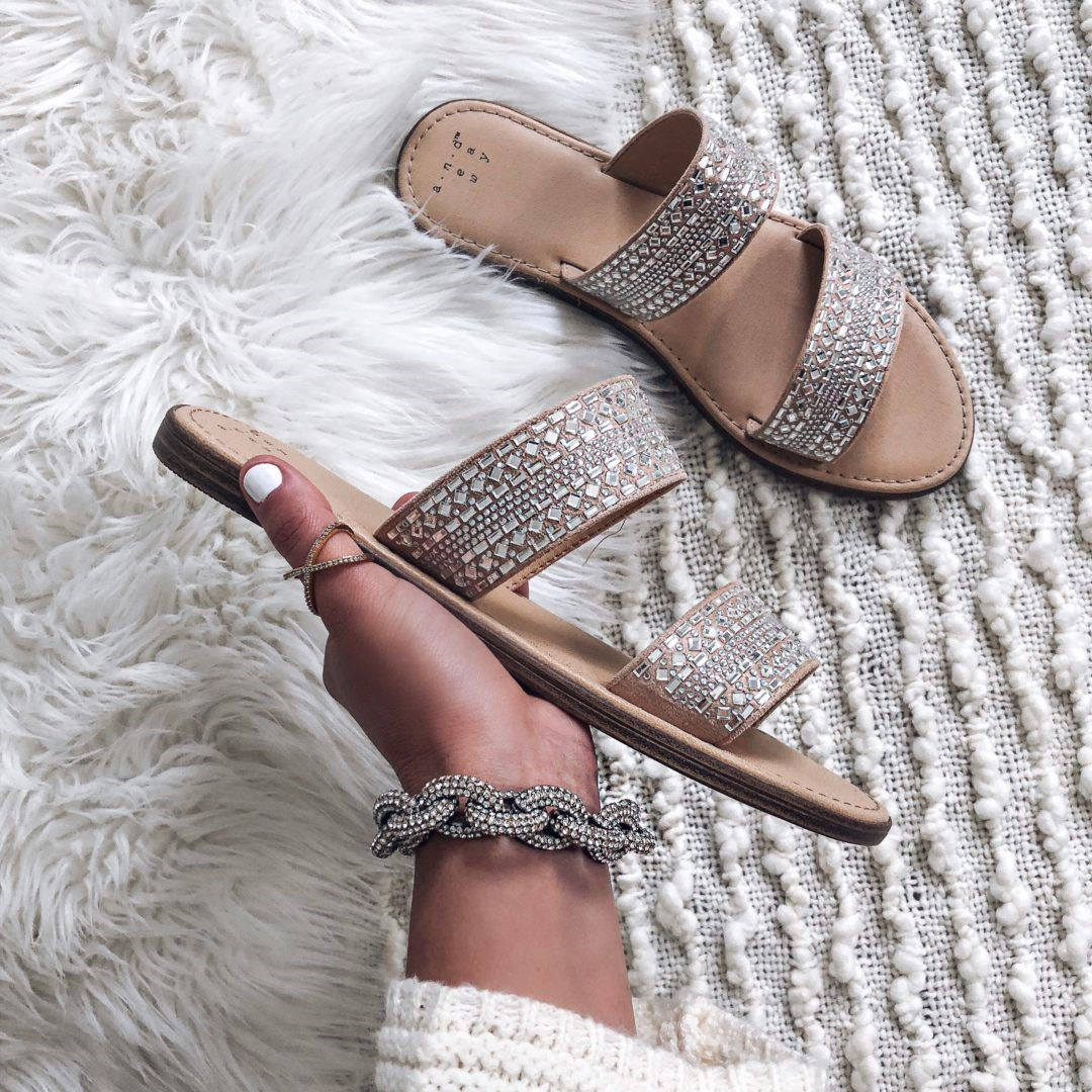 42f88a72ad Blogger Sarah Lindner of The House of Sequins affordable summer sandals,  wedges and shoes under $50. Instagram round-up of #targetstyle