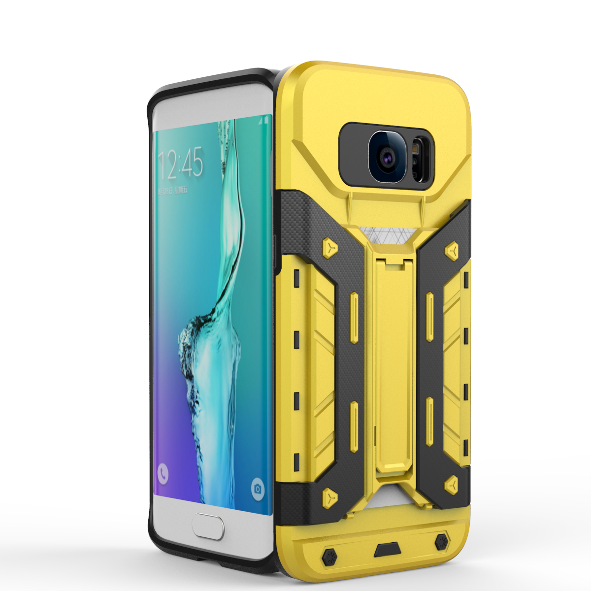 Galaxy S7 Edge Case Transformer Card Holder Yellow Samsung Galaxy S7 Edge Cases Samsung Galaxy S7 Edge Galaxy S7