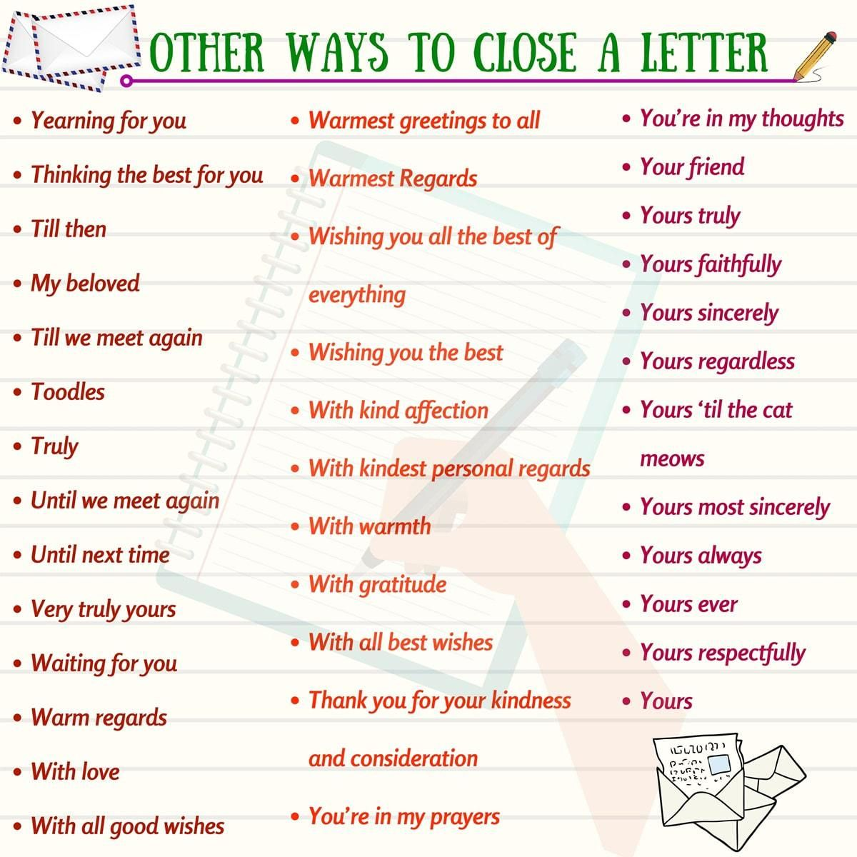 How to End a Letter in English Lettering, Learn english