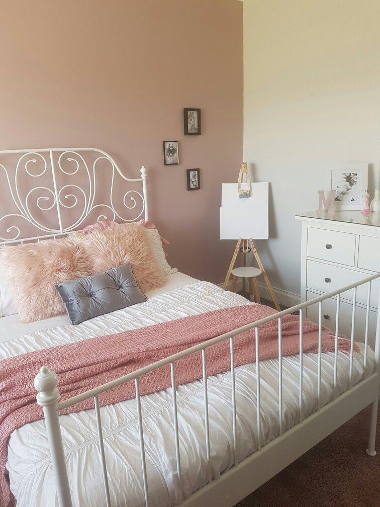 Girls Tween Bedroom Leirvek Bed Dusty Rose Dulux Lilac Suede Pink Black Grey Cozy Furniture Rose Bedroom Tween Bedroom