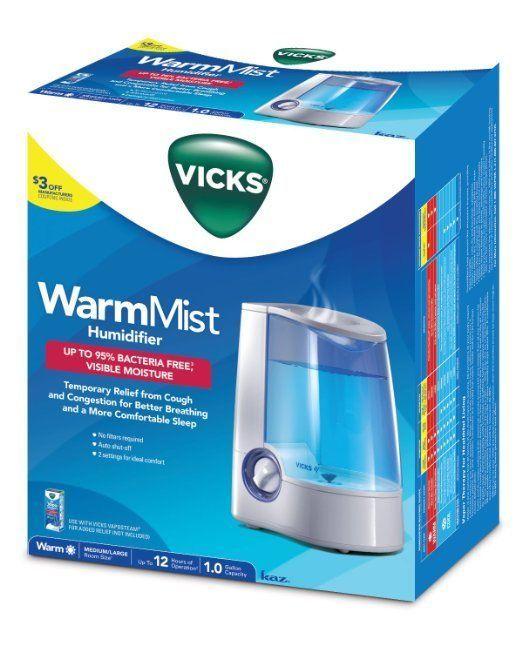 VICKS WARM MIST Humidifier, Vicks Humidifier for Bedrooms