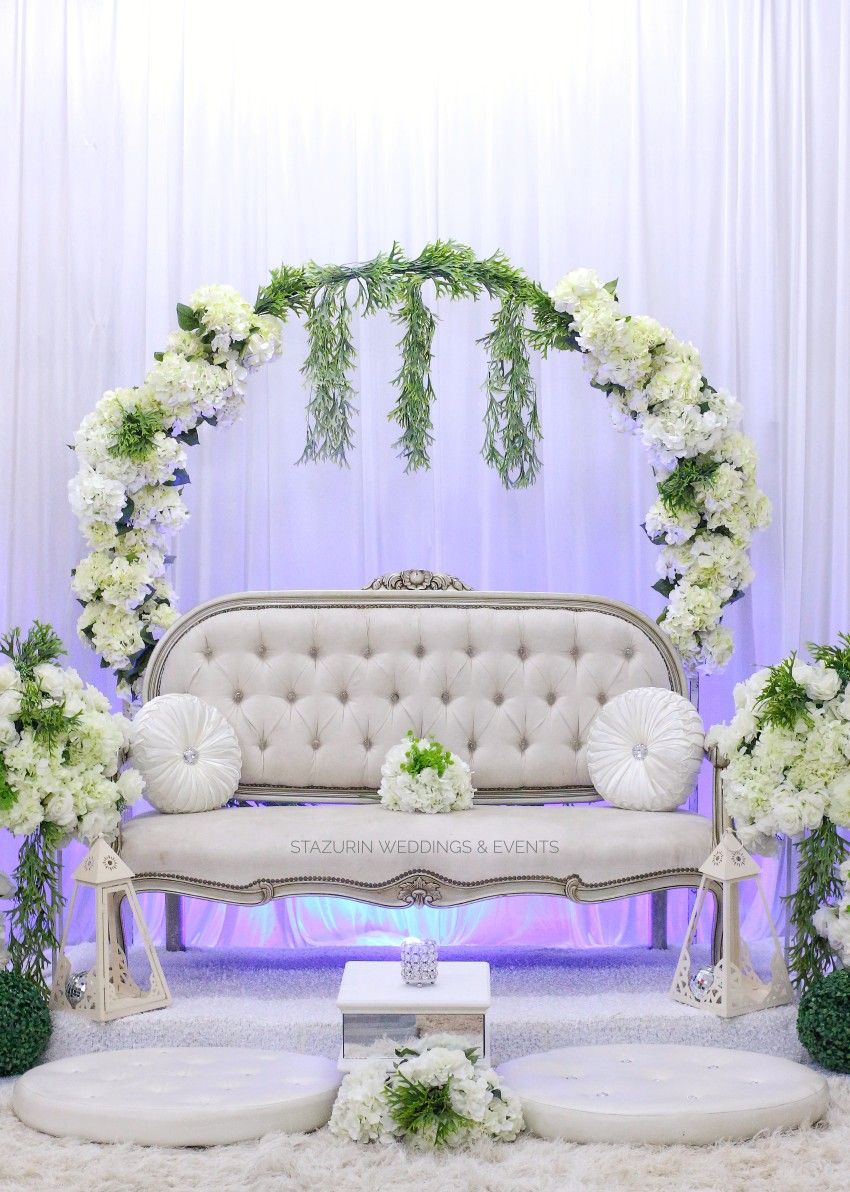Chic Dais Spiral Decoration Pelamin Garden Wedding Themes Vintage Nikah Solemnization