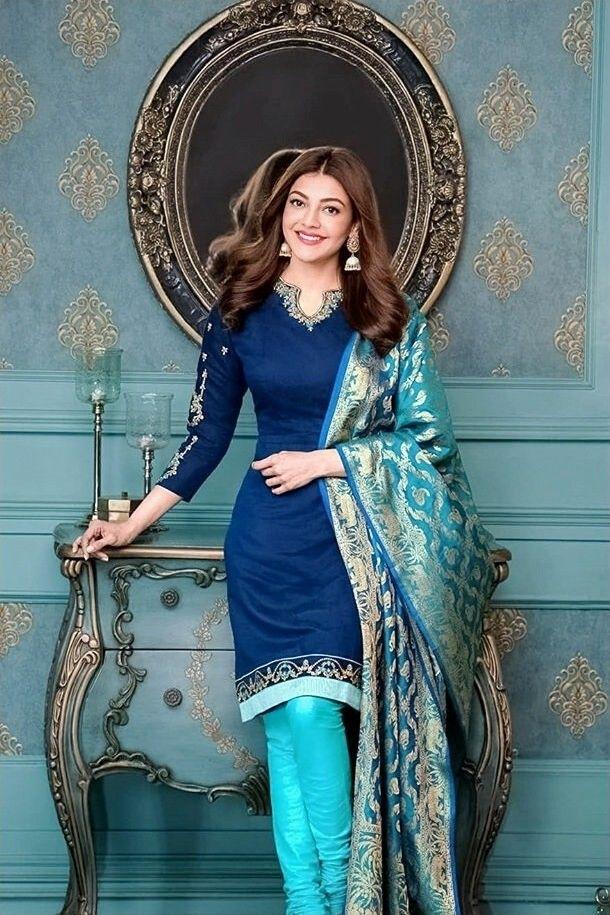 Cuteee kajal Red saree, Indian actresses, Saree