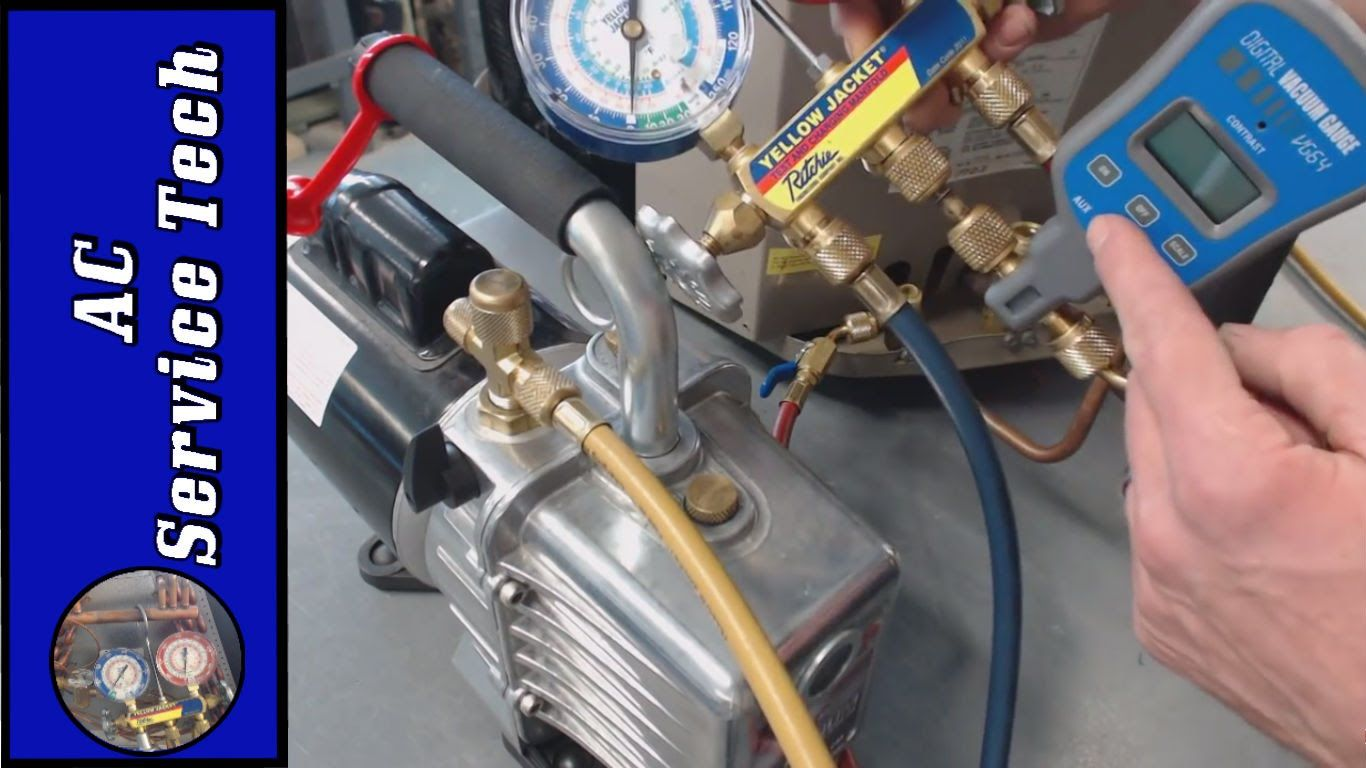 Vacuum Pump Hookup Micron Level Breaking The Vacuum With Refrigerant Refrigeration And Air Conditioning Air Conditioning Maintenance Hvac Air Conditioning