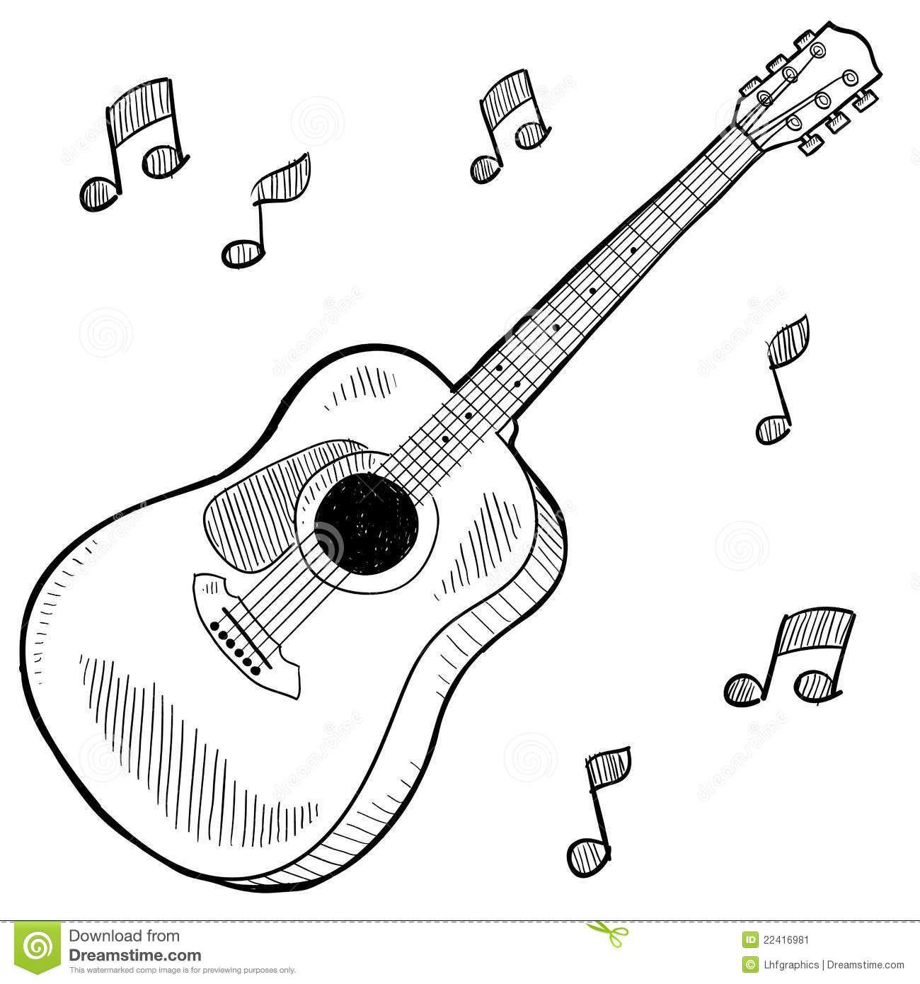 Guitar Drawing Guitar Sketch Guitar Drawing Music Drawings