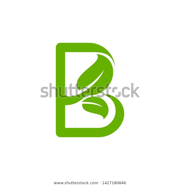Letter B Logo Template Leaf Icon Stock Vector Royalty Free 1427180846 Logo Templates Letter B Lettering