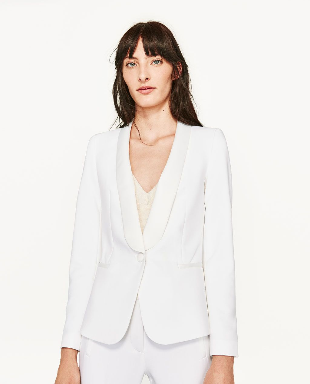 1b91562ae2 Image 2 of TUXEDO STYLE BLAZER from Zara | all white: shoppable ...