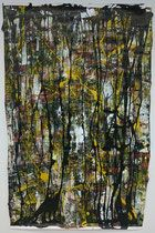 """Jansen, Frenske, """"Stand"""", 2015, acrylic paint and ink on paper, appr. 150 x 50 cm."""