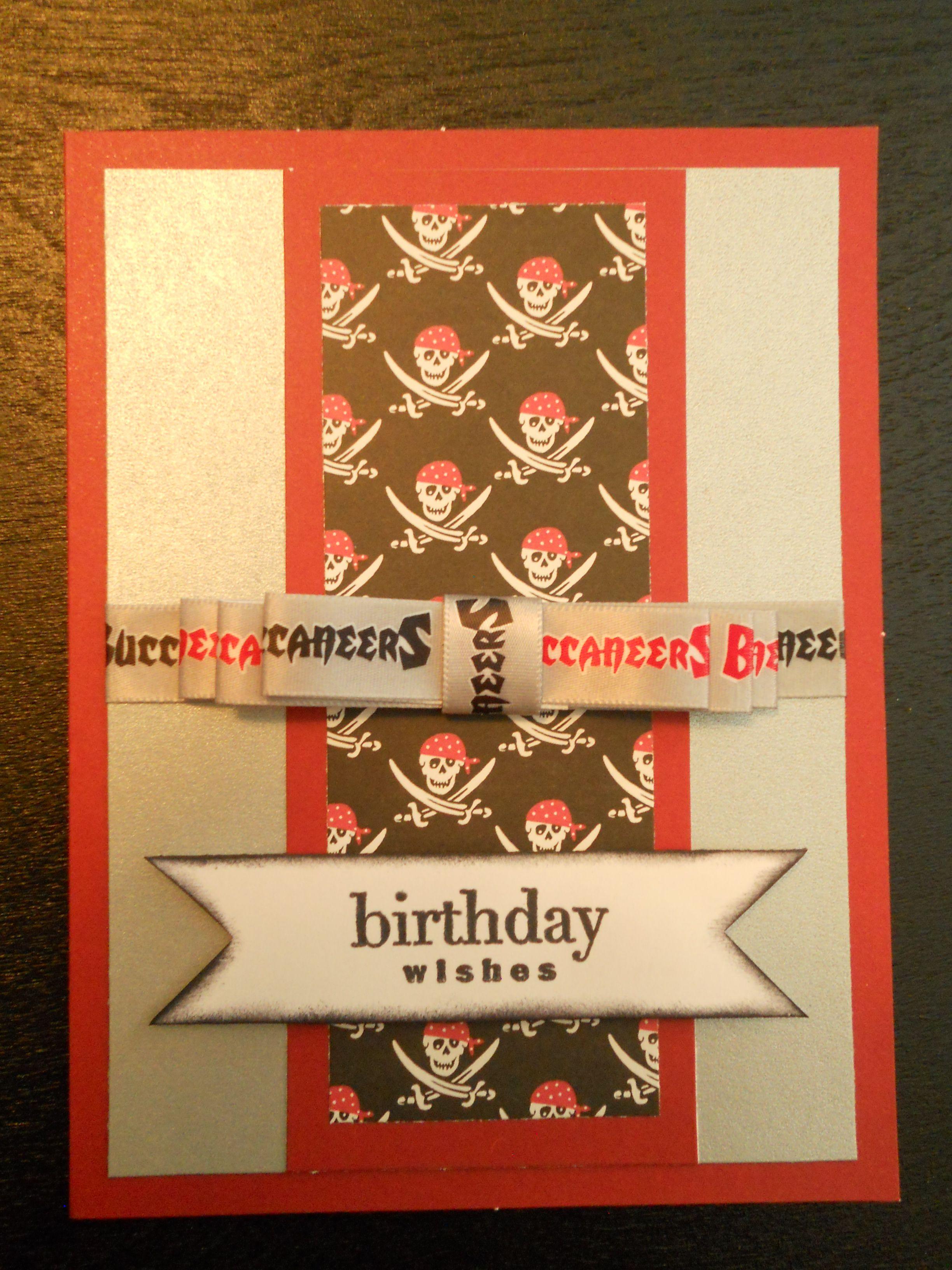 Tampa Bay Buccaneers Fan Birthday Card Birthday Cards Birthday Wishes Birthday