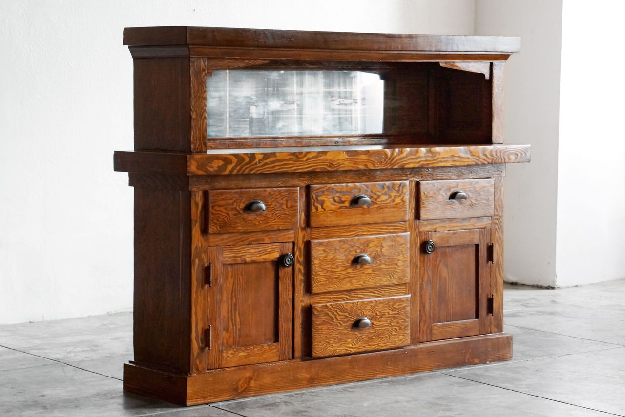 SOLD   American Craftsman Cabinet With Mirror, C. Early 1900s