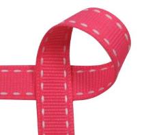 Saddle Stitch Ribbon - custom, Schiff, grosgrain, 100% polyester