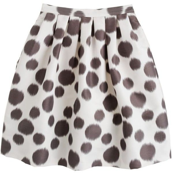 J.Crew Collection circle skirt in double dot ($198) ❤ liked on Polyvore