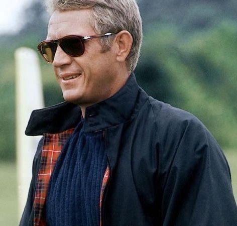 7894c66f627fc Steve McQueen Thomas Crown Affair Baracuta jacket Persol 714 sunglasses