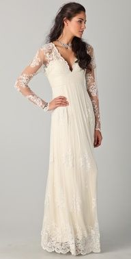 Pretty lace gown.  #bohemian #wedding #celebstylewed @Jason Stocks-Young Jones Style Weddings