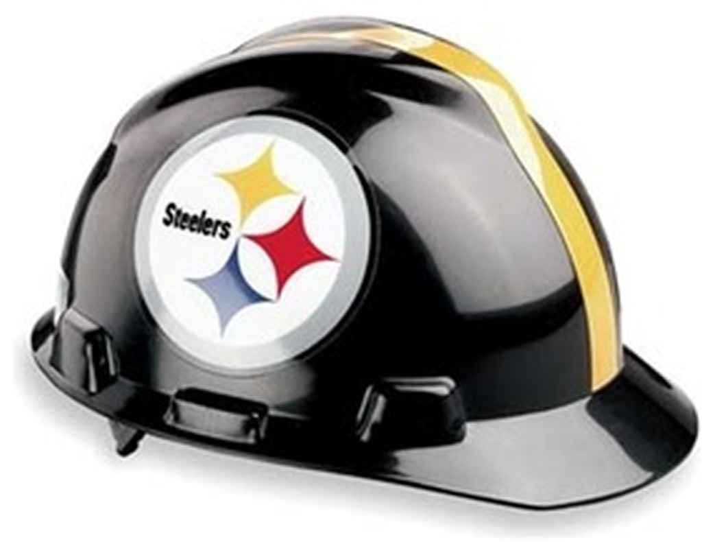on sale 69736 310b6 MSA Safety Works 818438 NFL Hard Hat, Pittsburgh Steelers ...