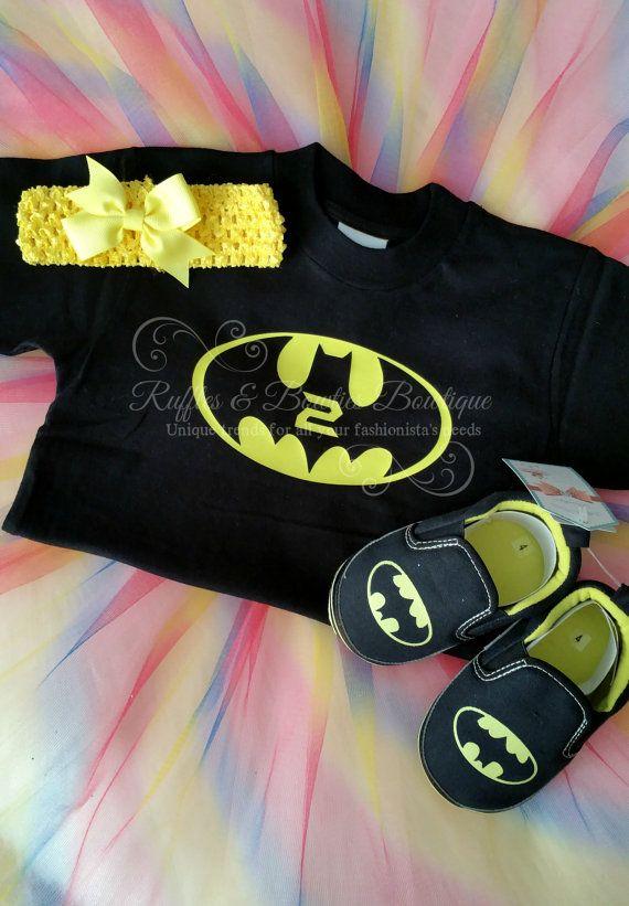cd7f27d9 2nd Birthday-Girls Batman Birthday Shirt Batman by RufflesBowtique ...