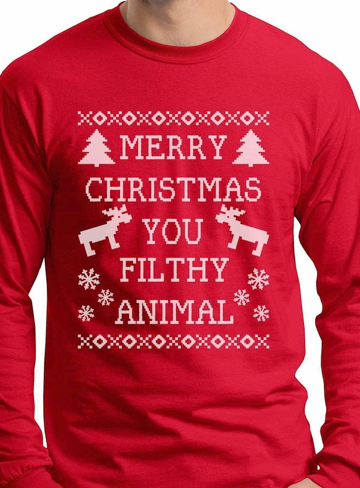 Merry Christmas You Filthy Animal Funny Christmas Gift For Guys Home ...