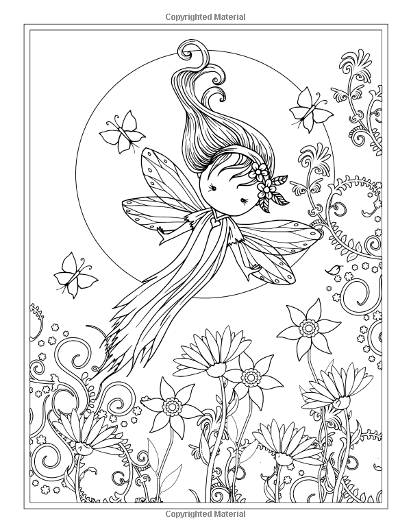 Whimsical World Coloring Book Fairies Mermaids Witches And More Molly Harrison Adult PagesColoring