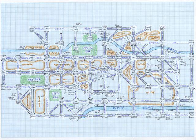Simplified Map Of London.Mappa Lundi Starye I Novye Karty Old And New Maps London Map