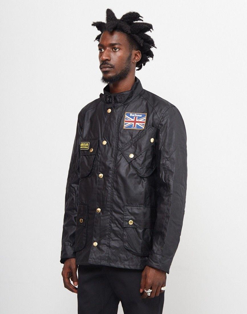 6e0aab0aae1 Barbour International Union Jack Motorcycle Jacket Black