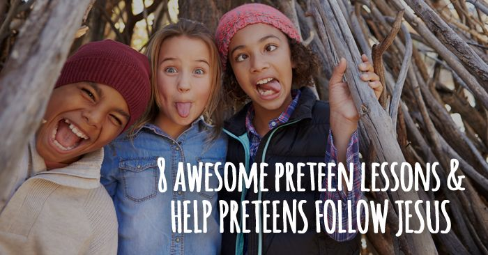 8 Free Preteen Ministry Lessons | Teen ministry | Teen