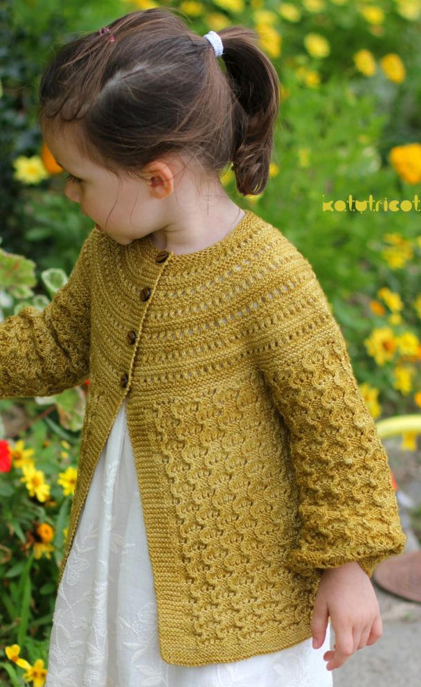 Cardigans for Children Knitting Patterns | Tejido y Chicas