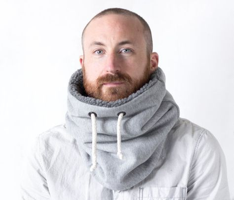 Unisex cowl, neck warmer, scarf men, Snock® in chunky knit wool with ...