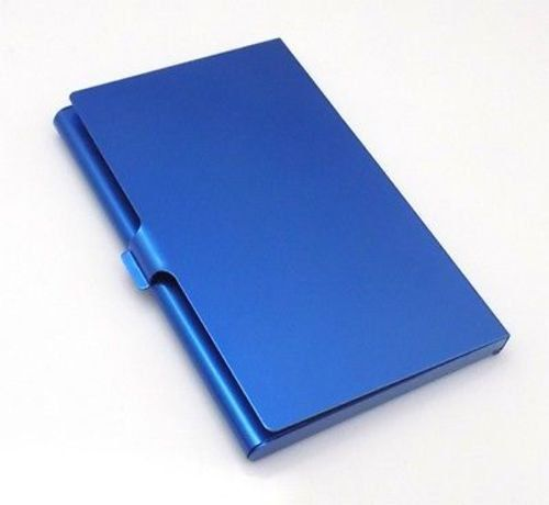 Blue Business Credit ID Card Quality USA Seller Metal Pocket Gift Case ACC-0023