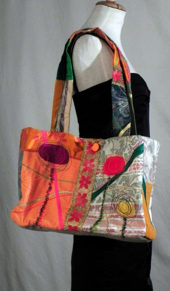 Ethnic embroidered travel  hand bag special  you won par lamaurer, $98.00