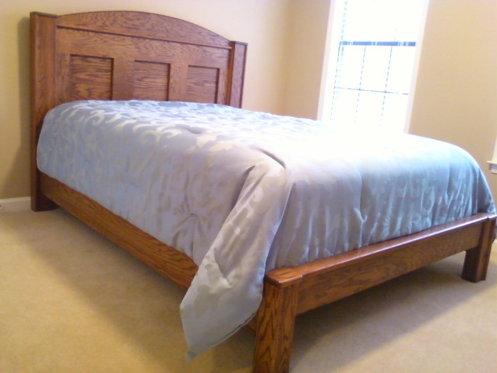 selfdesigned Ranch style queen bed headboard, footboard