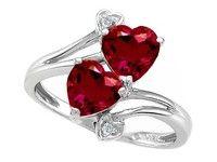 Wish | Tommaso design Studio Tommaso Design Created Heart Shape Ruby and Diamond Ring in White Gold Size 6