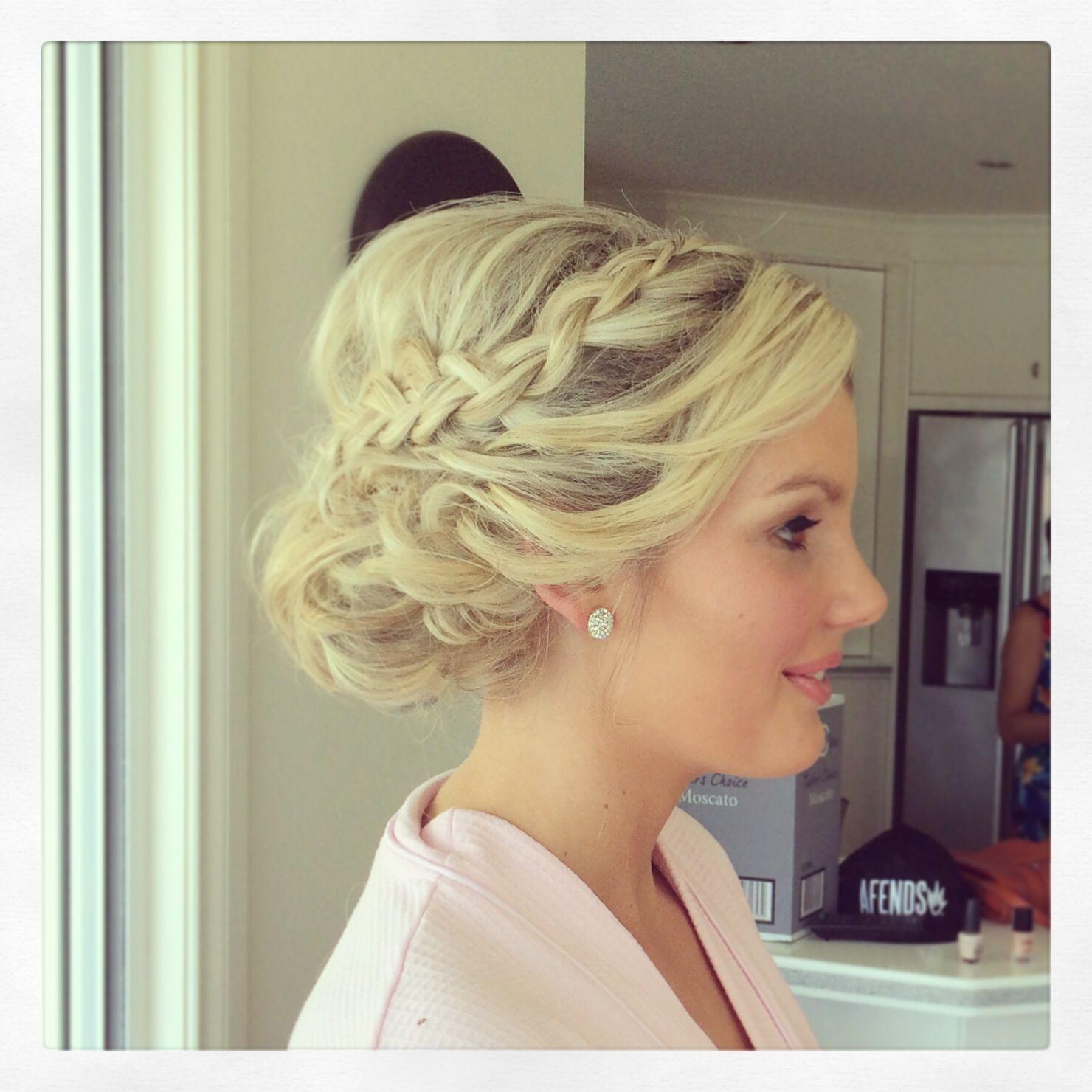 Perfect Bridesmaid Upstyle Coastalstylemobilehairdressing Romantic Updo Hairstyles Hairdo For Long Hair Short Wedding Hair
