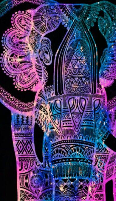Tribal elephant galaxy patterns elephant wallpaper - Elephant background iphone ...