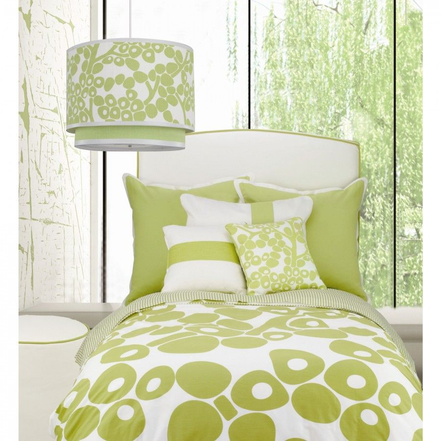 Oilo Modern Berries Bedding Collection in Green - Modern Berries Bedding Collection in Green