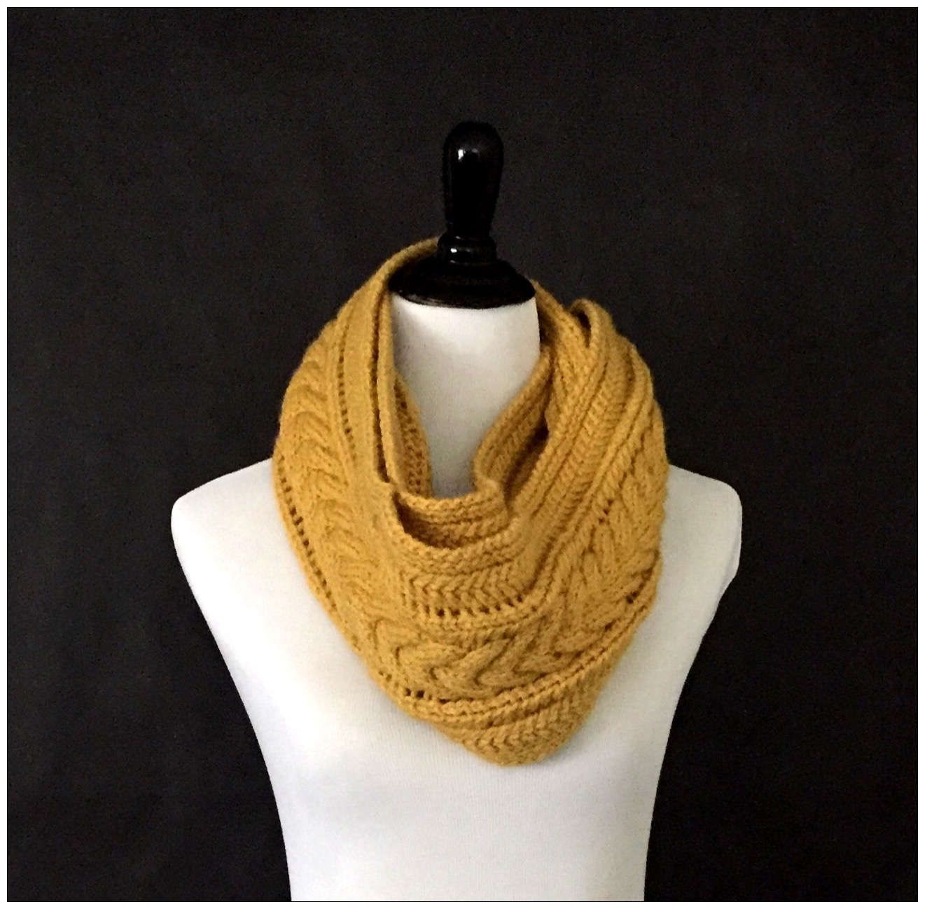 Knitting pattern infinity scarf cable scarf pattern instant knitting pattern infinity scarf cable scarf pattern instant download intermediate pattern for hand bankloansurffo Choice Image