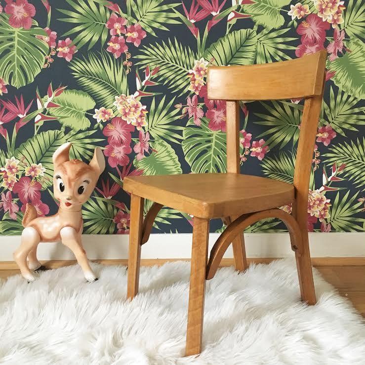 orangevertevintage chaise enfant en bois baumann pinterest chaise chair and brocante. Black Bedroom Furniture Sets. Home Design Ideas