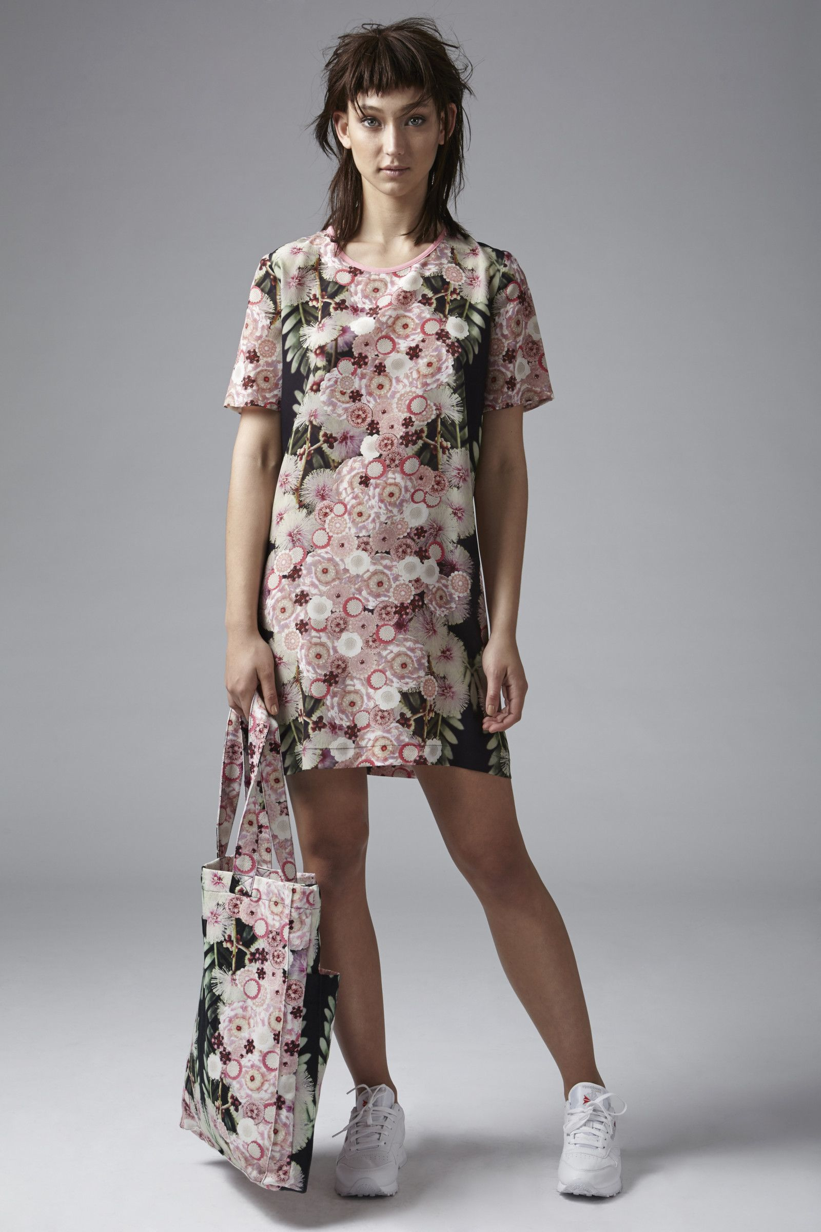 Silk Tee Dress (Ragga Blossom) | Romance Was Born