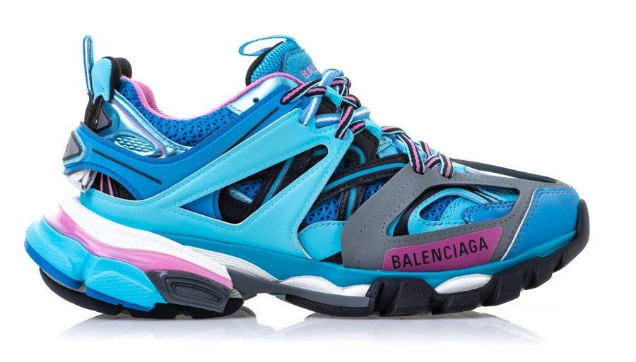 Pre-Owned Balenciaga Track Runners Blue