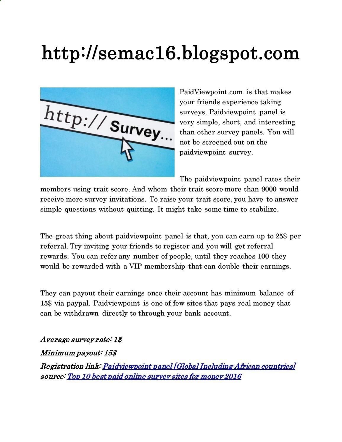 Best (legit) online survey sites to work from home 2016 Home based ...